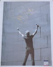 Roger Waters Pink Floyd Signed 30x40 Canvas Psa Coa S79280