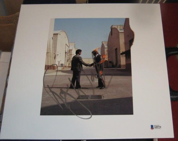 Roger Waters Pink Floyd Signed Autographed Wish You Were Here Vinyl Album Bas
