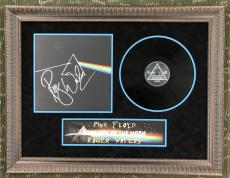 "ROGER WATERS (Pink Floyd) signed ""Dark Side of the Moon"" custom framed display"