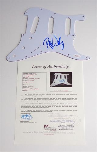 Roger Waters Pink Floyd Signed Guitar Pickguard Jsa Loa X07043
