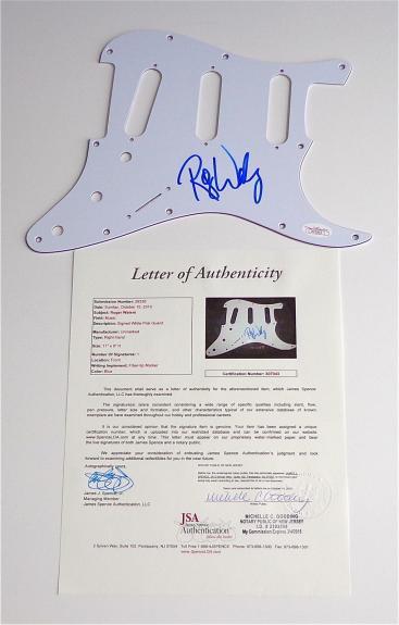 Roger Waters Pink Floyd Signed Guitar Pickguard Jsa Loa X07043