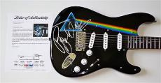 Roger Waters Pink Floyd Signed The Dark Side Of The Moon Airbrushed Guitar Psa