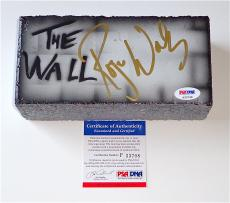 Roger Waters Pink Floyd Signed The Wall Airbrushed Brick Psa Coa P33798