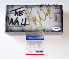 Roger Waters Pink Floyd Signed The Wall Airbrushed Brick Psa Coa P33802