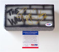 Roger Waters Pink Floyd Signed The Wall Airbrushed Brick Psa Coa P33803