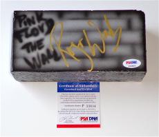 Roger Waters Pink Floyd Signed The Wall Airbrushed Brick Psa Coa P33804