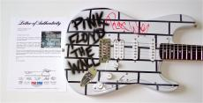 Roger Waters Pink Floyd Signed The Wall Airbrushed Guitar Psa Loa K74519
