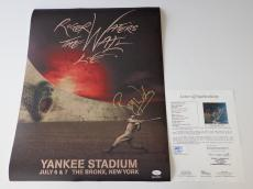 Roger Waters Pink Floyd Signed The Wall Live - Yankee Stadium Poster Jsa Y57077