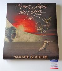 Roger Waters Pink Floyd Signed The Wall Live - Yankee Stadium Poster Psa Q60667