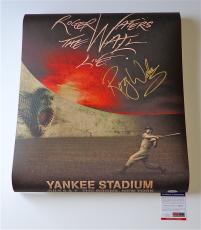 Roger Waters Pink Floyd Signed The Wall Live - Yankee Stadium Poster Psa S79278