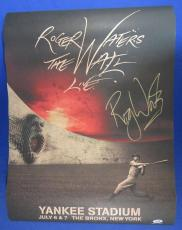 Roger Waters Pink Floyd Signed The Wall Yankee Stadium Poster PSA/DNA Q60668