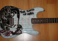 Roger Waters Pink Floyd The Wall Signed Custom Airbrush Guitar Jsa Letter Coa