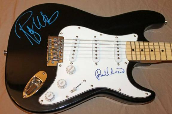 Roger Waters & Richard Wright Pink Floyd Signed Guitar PSA/DNA #S00862