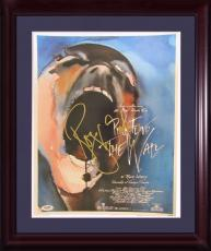 Roger Waters Signed 18x24 Pink Floyd The Wall Poster Framed  PSA DNA Autograph