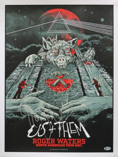 Roger Waters Signed 18x24 Us + Them Limited Edition Poster #353/1000 BAS #A10284