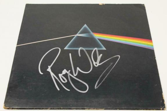 Roger Waters Signed Autograph Album Record Pink Floyd Dark Side Of The Moon Real