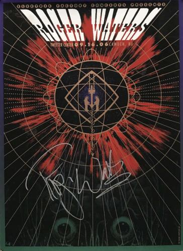 Roger Waters Signed Autographed 2006 Electric Factory Poster JSA