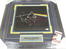 ROGER WATERS Signed Autographed Dark Side Of The Moon RECORD ALBUM FRAMED JSA