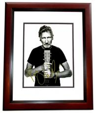 Roger Waters Signed - Autographed PINK FLOYD 11x14 inch Photo MAHOGANY CUSTOM FRAME - Guaranteed to pass PSA or JSA