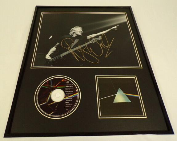 Roger Waters Signed Framed 16x20 Dark Side of the Moon CD & Photo Display AW