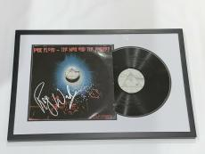 """Roger Waters Signed Framed Pink Floyd """"the Man And The Journey"""" Album Proof"""