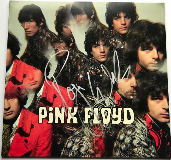Roger Waters signed Pink Floyd album the piper at the gates of dawn beckett loa