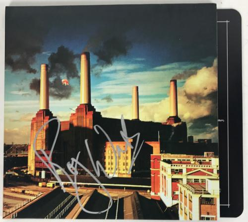 Roger Waters Signed Pink Floyd Animals Album W/exact Photo Proof Beckett Bas