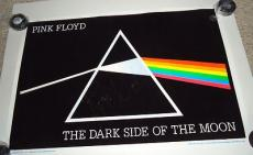 ROGER WATERS signed *PINK FLOYD* Dark Side of the Moon 23X35 poster PSA/DNA