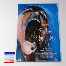 Roger Waters Signed Pink Floyd - The Wall 12x18 Movie Poster Psa Coa Q60577
