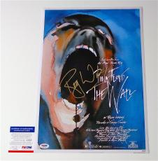 Roger Waters Signed Pink Floyd - The Wall 12x18 Movie Poster Psa Coa Q60582