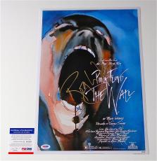Roger Waters Signed Pink Floyd - The Wall 12x18 Movie Poster Psa Coa Q60583