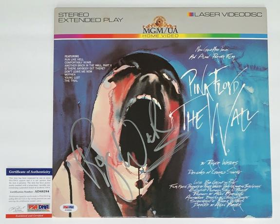 Roger Waters Signed Pink Floyd The Wall Movie Laserdisc Psa Coa Ad48284
