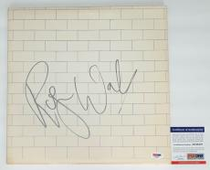 Roger Waters Signed Pink Floyd The Wall Record Album (silver) Psa Coa Ad48307