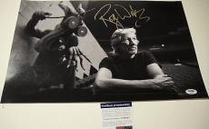 Roger Waters The Wall Pinkfloyd Signed 12x18 Photo Psa/dna Coav T60287