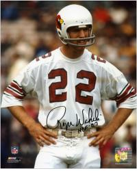 Roger Wehrli Arizona Cardinals Autographed 8'' x 10'' Hands on Hip Photograph with HOF 07 Inscription - Mounted Memories