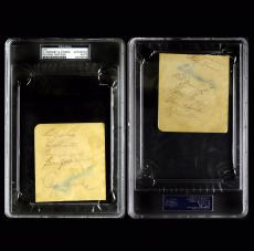 Rogers Hornsby Satchel Paige signed autographed PSA DNA 837966