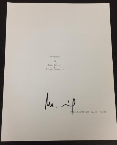 "Roland Emmerich Signed Autograph Rare ""stargate"" Complete Movie Script Coa"