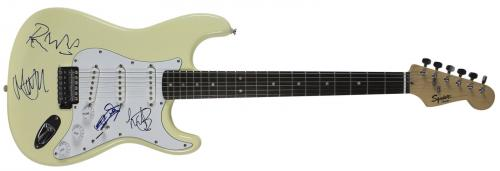 Rolling Stones (4) Jagger, Richards, Wood & Watts Signed Fender Guitar JSA