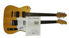 Rolling Stones Autographed Keith Richards Double Neck Guitar PSA