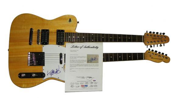 Rolling Stones Autographed Keith Richards Double Neck Guitar PSA AFTAL
