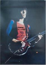 Rolling Stones Autographed Facsimile Signed Keith Richards Guitar Playing Poster