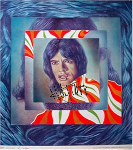 Rolling Stones Autographed Facsimile Signed Mick Jagger Picture N Picture Art Poster