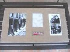 "Rolling Stones Band Signed 17""x31"" Display Vintage W/ Brian Jones PSA Certified"