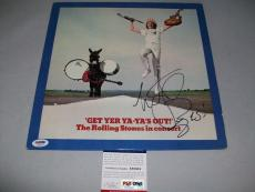 """ROLLING STONES CHARLIE WATTS autographed """"GET YER YA YAs"""" LP RECORD PSA/DNA COA"""