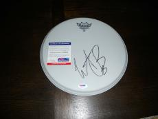 """Rolling Stones Charlie Watts Signed Autographed 10"""" Drumhead Drum PSA Certified"""