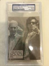 Rolling Stones Charlie Watts Signed Autographed Photo PSA DNA Encapulated