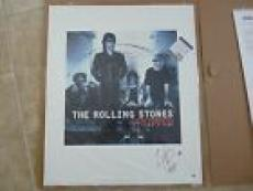 Rolling Stones Charlie Watts Stripped Signed Autograph Lithograph PSA Certified