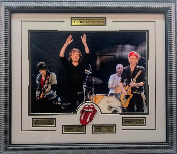 Rolling Stones Framed Photo w/ Logo and Laser Signatures