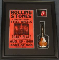Rolling Stones Framed Poster with Mini Guitar