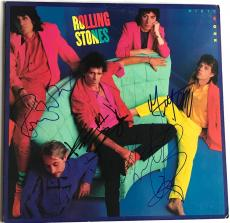 Rolling Stones signed album dirty work lp mick jagger keith richards psa dna